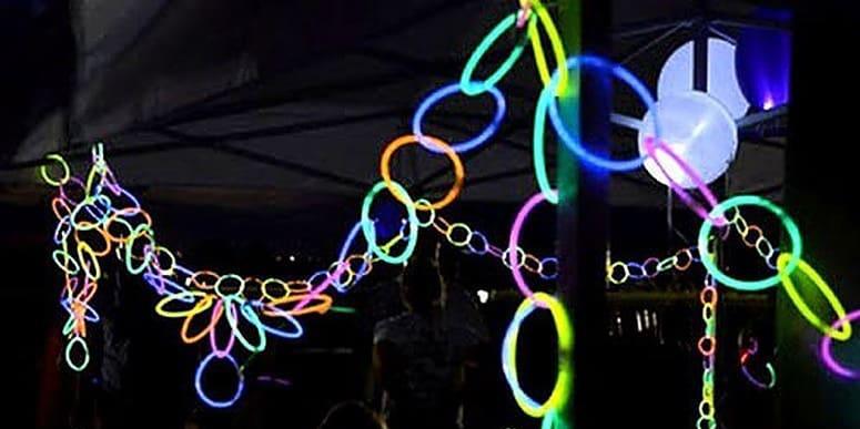 Guirnaldas pulseras luminosas partylus