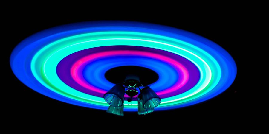 Ventilador techo fluorescente Partylus