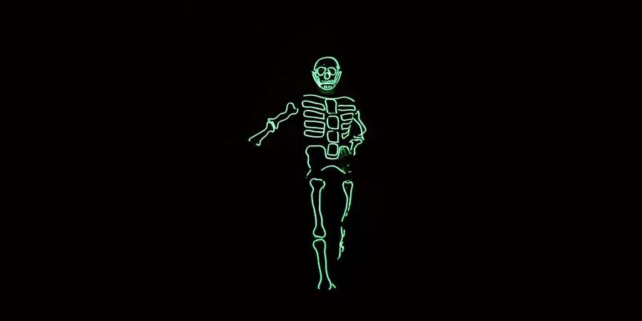 Disfraz esqueleto glow sticks Partylus