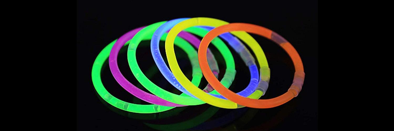 Pulseras luminosas glow stick Partylus