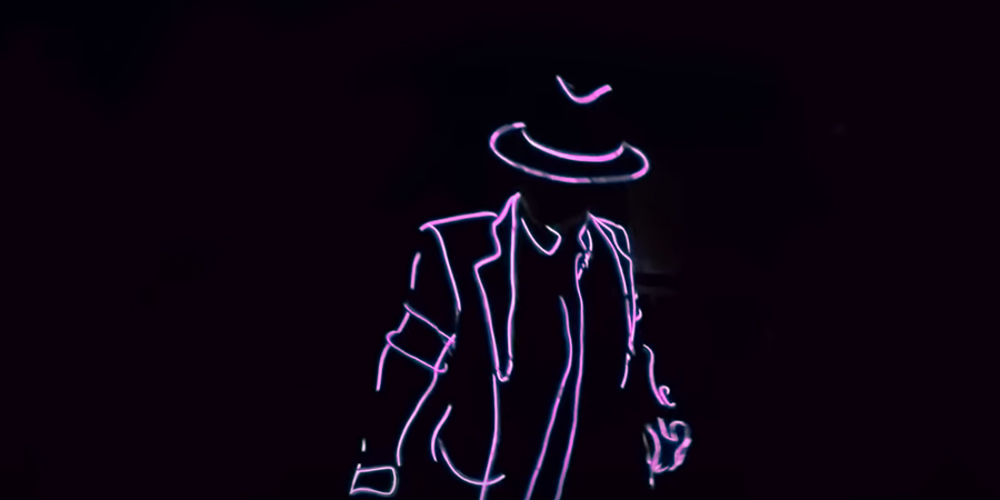 Disfraz Michael Jackson luminoso Partylus