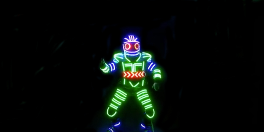 Disfraz robot luminoso Partylus