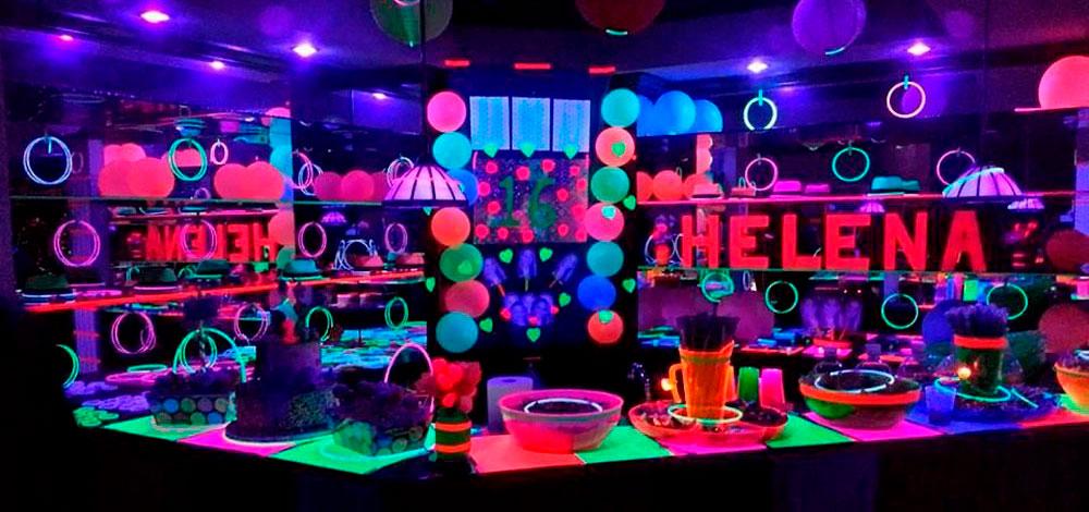 Pulseras luminosas fiesta cumpleaños Partylus